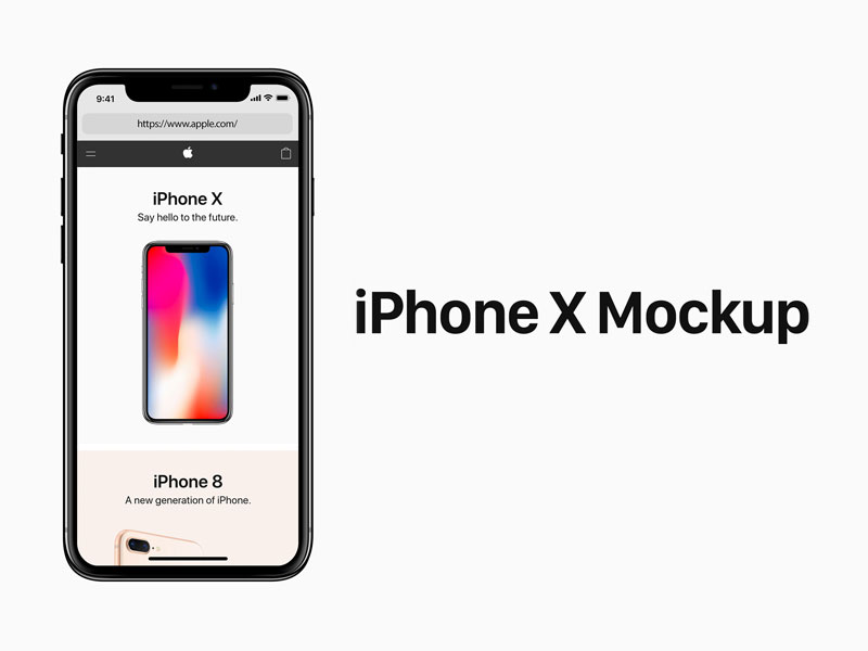 iPhone X Mockup PSD Free Download
