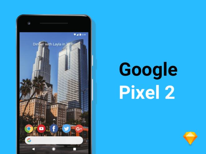 Халява для Sketch : Мокап Google Pixel 2