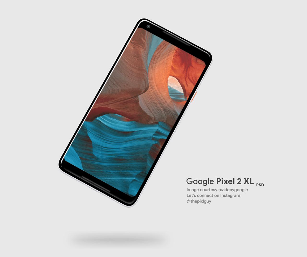 Google Pixel 2 XL PSD Mockup