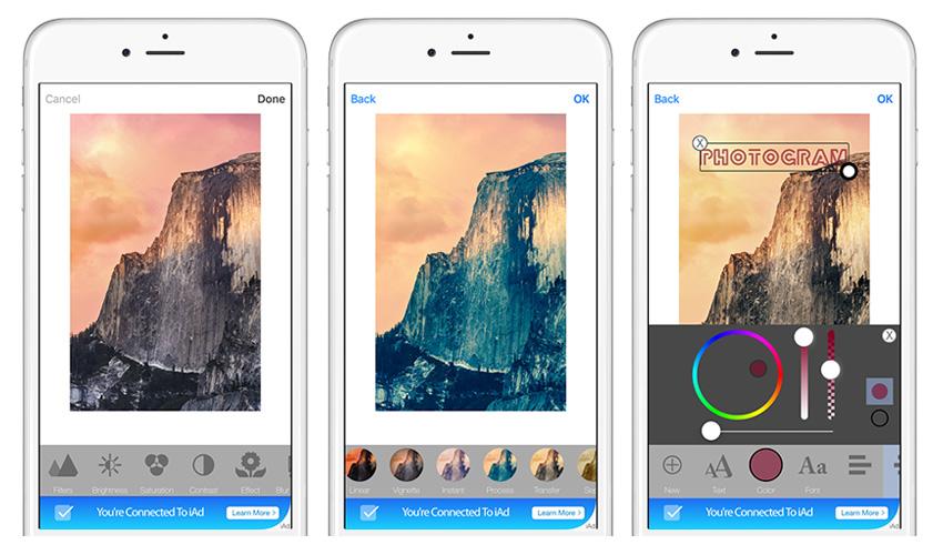 PhotoGram - Universal Image/Photo Editor iOS Template