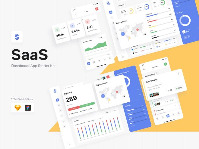 SaaS Dashboard App Starter Kit – Набор для разработки дашборд, позволяющий запустить ваши SaaS-проекты