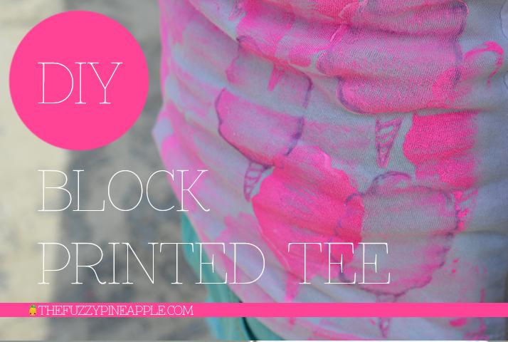 DIY Cotton Candy Block Printed Shirt