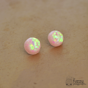 Holographic Sparkler Earrings in Pastel Pink