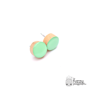 Pistachio Chunky Candy Dot Earrings