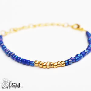 Periwinkle Magic Stacking Bracelet in Gold
