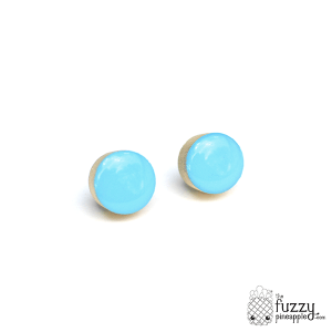 Perfect Blue Chunky Candy Dot Earrings