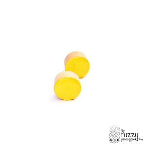 Bright Yellow Chunky Candy Dot Earrings