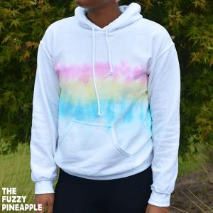 Pastel Rainbow Cloud Hoodie