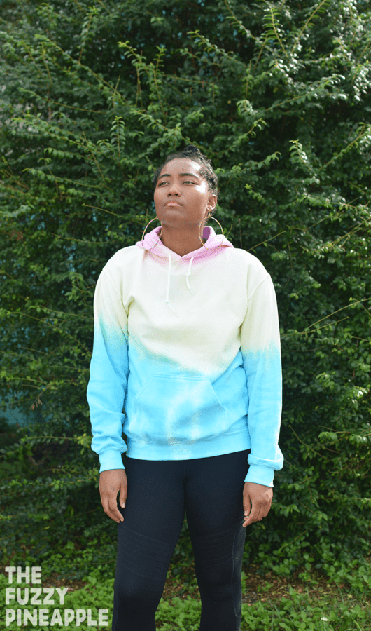 Pastel Primary Colorblock Rainbow Hoodie by The Fuzzy Pineapple