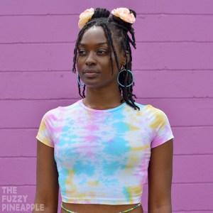 Rainbow Crunch Tie Dye Crop Top