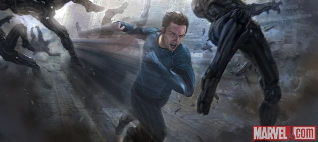 Quicksilver concept art from Marvels Avengers Age of Ultron
