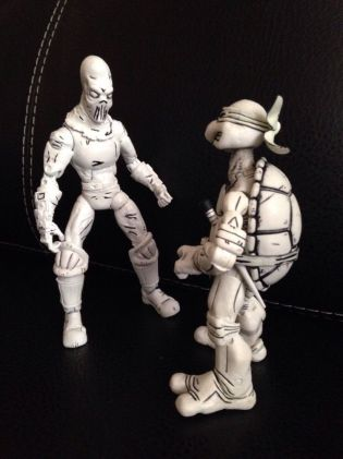 Custom Tmnt Black And White Neca Foot Soldier 1