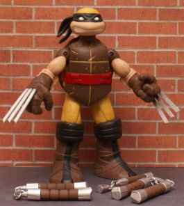 TMNT Battle Shell WOLVERINE Custom 10 Figure BROWN OR YELLOW SUIT - YOU PICK