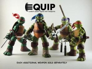 TMNT Custom crafted mini nunchucks Ninja Turtles