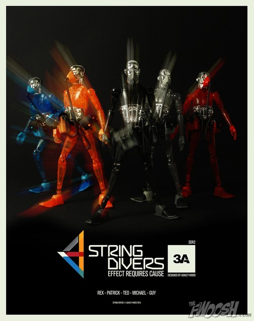 3A Toys Micronauts String Divers Clear