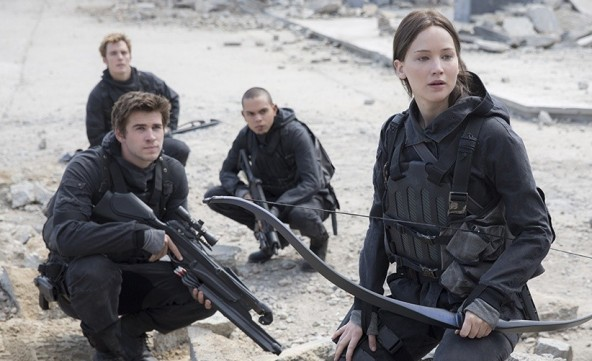 The Hunger Games Mockingjay Part II - Finnick, Gale, Messalla and Katniss
