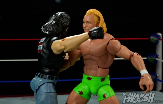 WWE Mattel APA -Bradshaw clothesline from hell on Billy Gunn