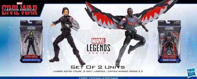 Marvel Legends Captain America Civil War Falcon Winter Soldier 6 inch Walmart