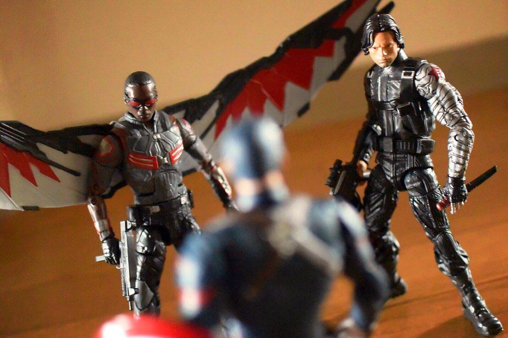 "Marvel Legends 2016 MOVIE FALCON FIGURE Loose 6/"" Cap America Civil War Walmart"
