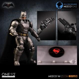 Mezco Toyz One 12 SDCC Exclusive BVS ARMORED BATMAN