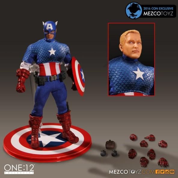 Mezco Toyz One 12 SDCC Exclusive Classic Captain America