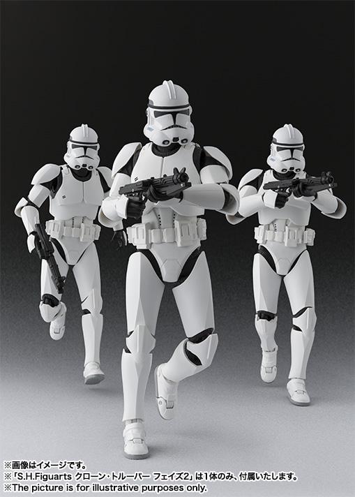 bandai sh figuarts star wars phase ii clone trooper and
