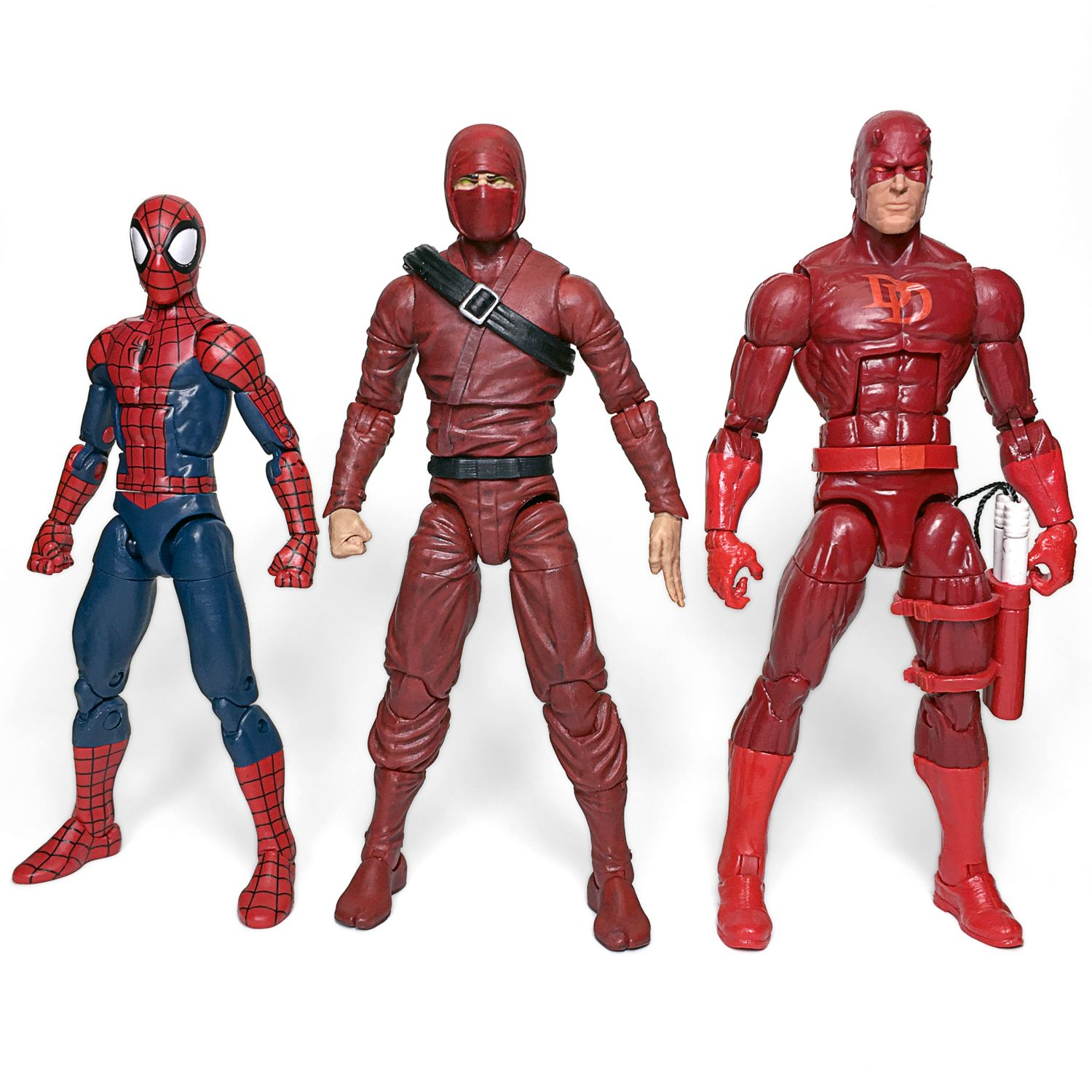 Fwoosh Articulated Icons Feudal Series Red Ninja Marvel Legends Scale Figure