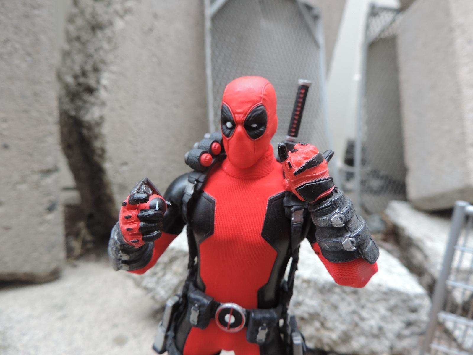 Deadpool 1//12 scale Custom Hero flocons et feiges célèbre Pizza Boxes