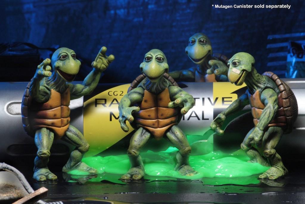 2002 *** FULL SET OF ALL 4 MINI TURTLES *** TEENAGE MUTANT NINJA TURTLES TMNT
