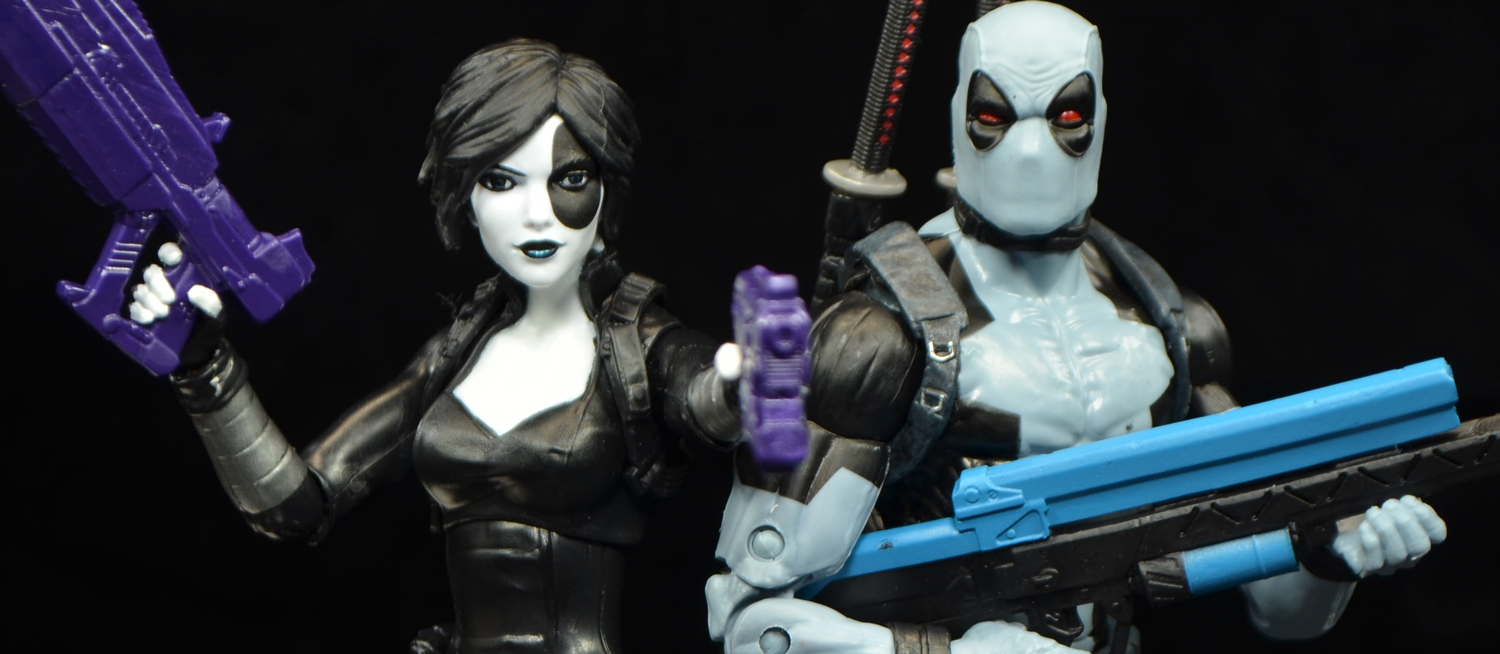 hasbro marvel legends deadpool series domino and xforce