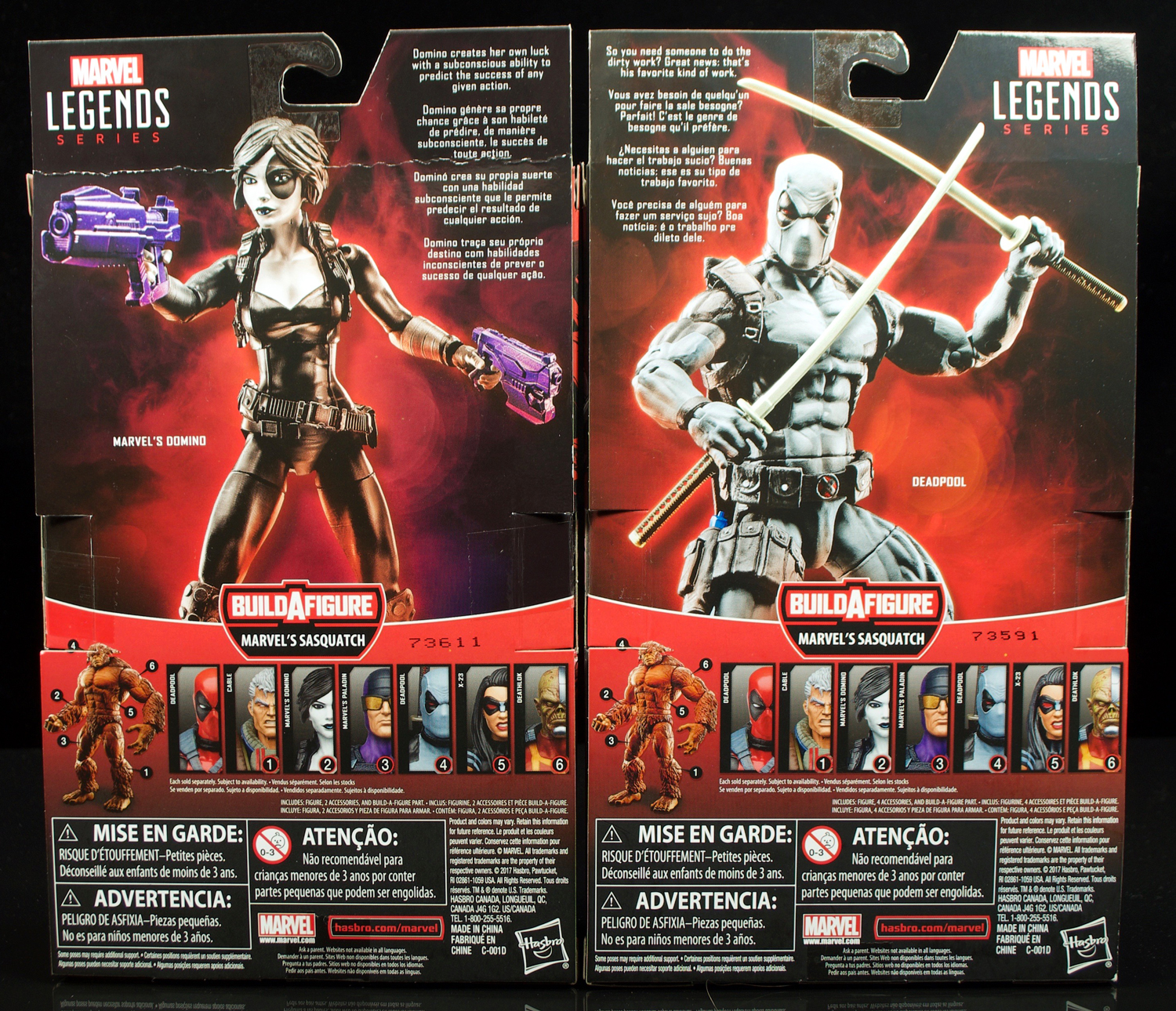 Hasbro: Marvel Legends Deadpool Series Domino And X-Force