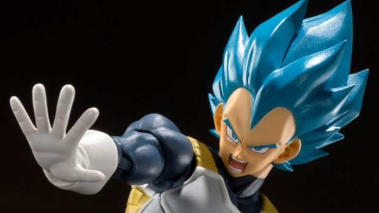 Bandai S.H.Figuarts Super Saiyan God Blue SSGSS Vegeta Dragon Ball Super SHF