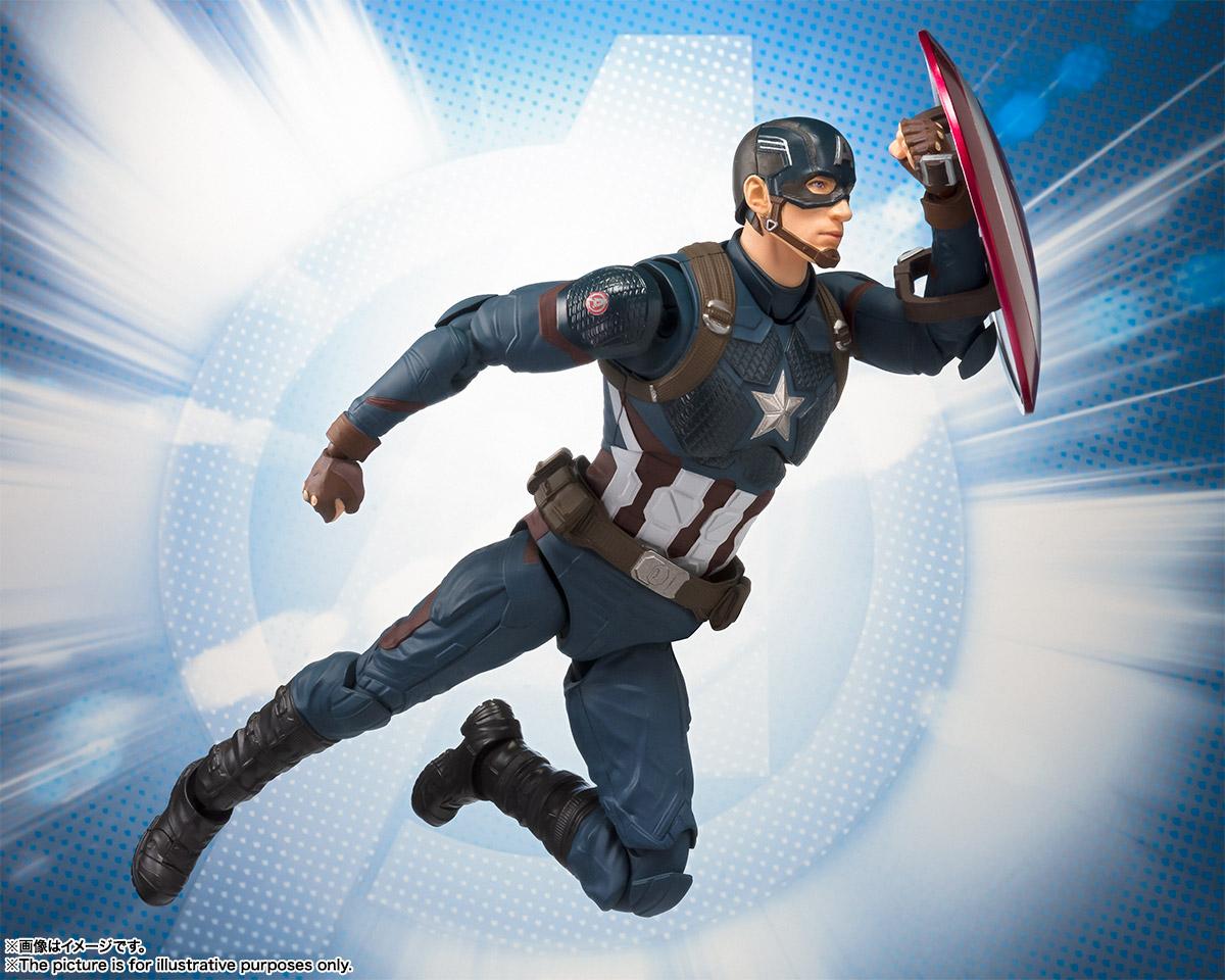 Bandai Tamashii Nations SH Figuarts Avengers Endgame Captain America promo 06