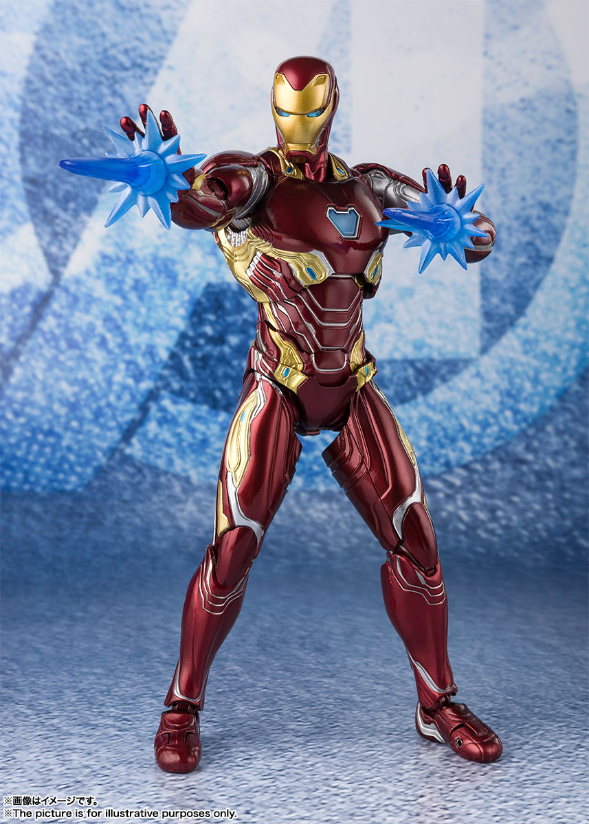 Bandai Tamashii Nations SH Figuarts Avengers Endgame Iron Man Mark 50 Nano Weapon Set 2 promo 07