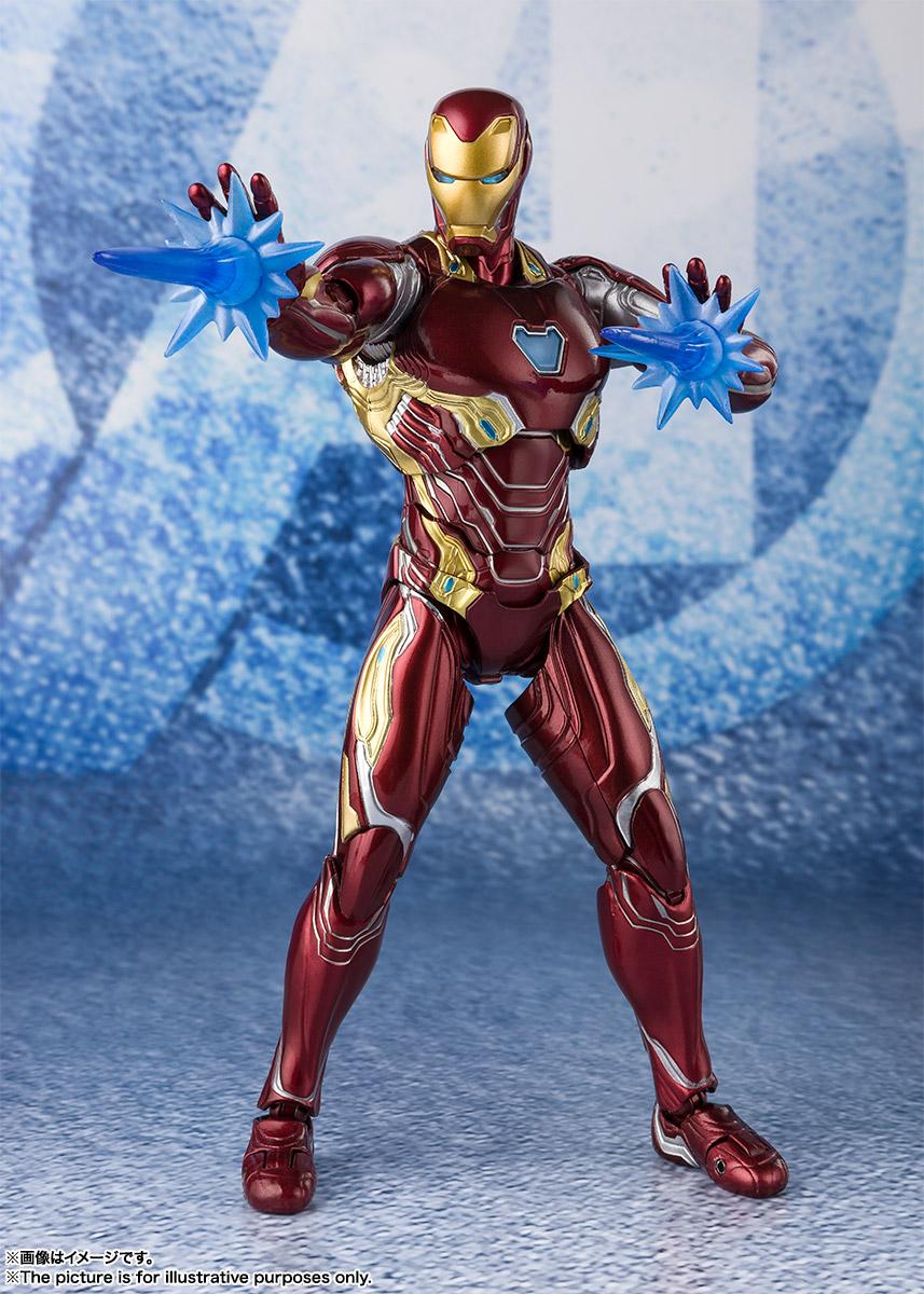 Bandai Tamashii Nations SH Figuarts Avengers Endgame Iron Man Mark 50 Nano Weapon Set 2 promo 07