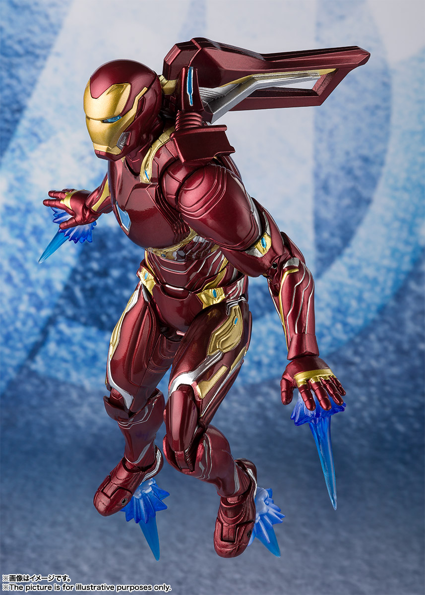 Bandai Tamashii Nations SH Figuarts Avengers Endgame Iron Man Mark 50 Nano Weapon Set 2 promo 09