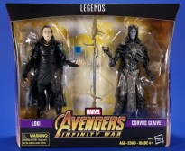 Hasbro Marvel Legends Avengers Infinity War Corvus Glaive and Loki 2 Pack Package 01