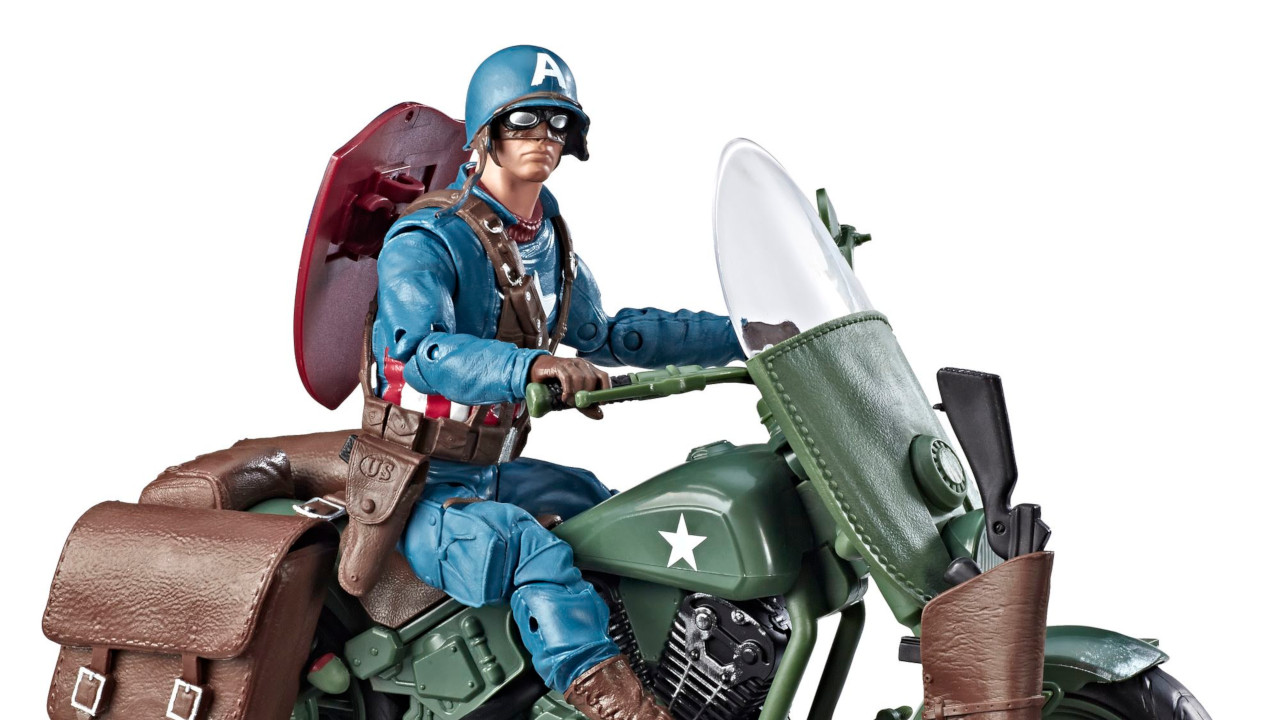 """2019 Marvel Legends 6/"""" AVENGERS WWII CAPTAIN AMERICA w// Motorcycle ***NO BOX***"""