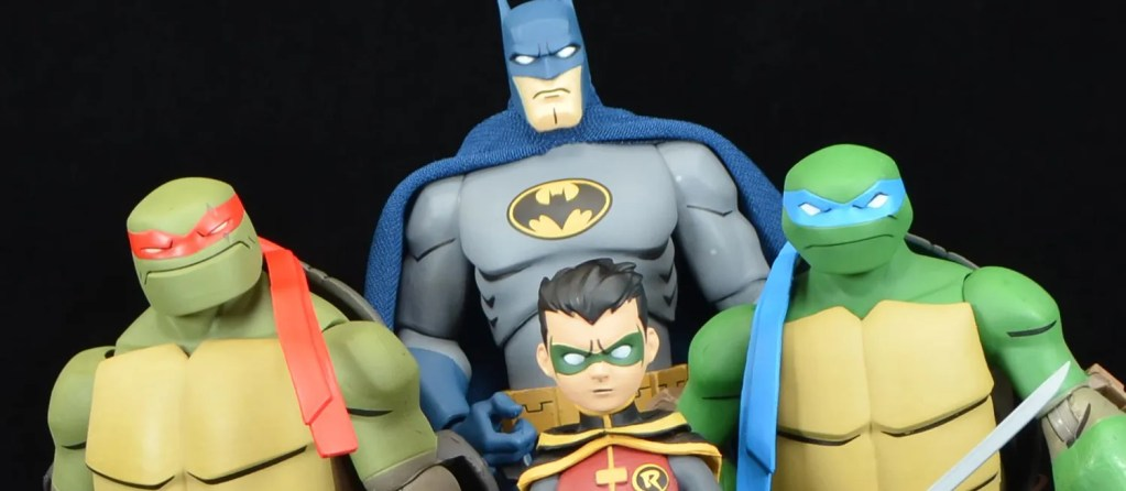 Dc Collectibles Batman Vs Tmnt Batman Leonardo And Robin Raphael Review Fwoosh