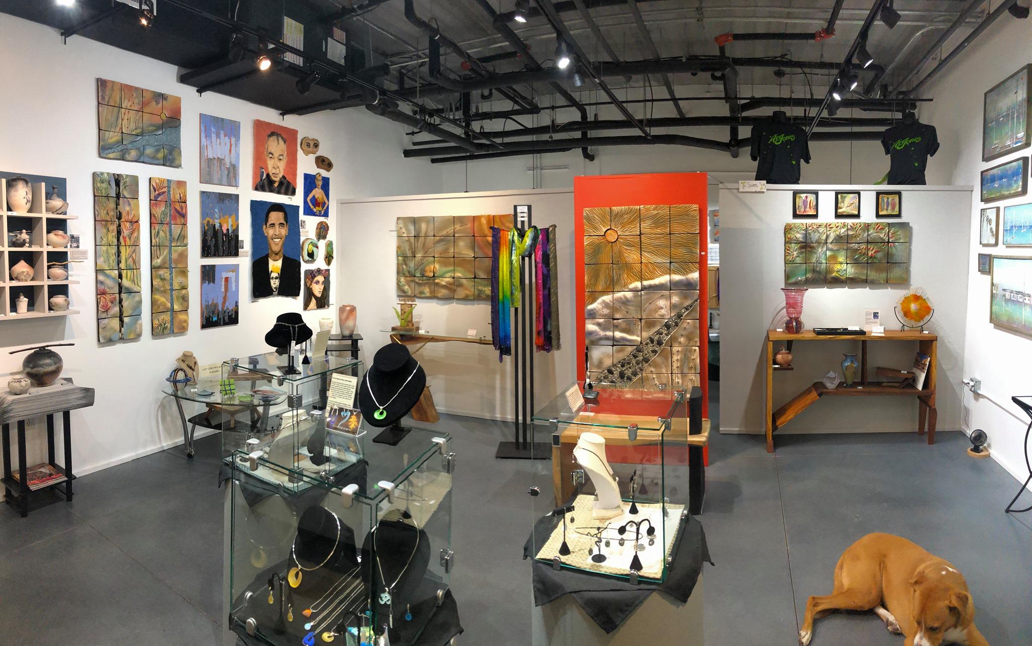Interior of Brenda McMahon Gallery