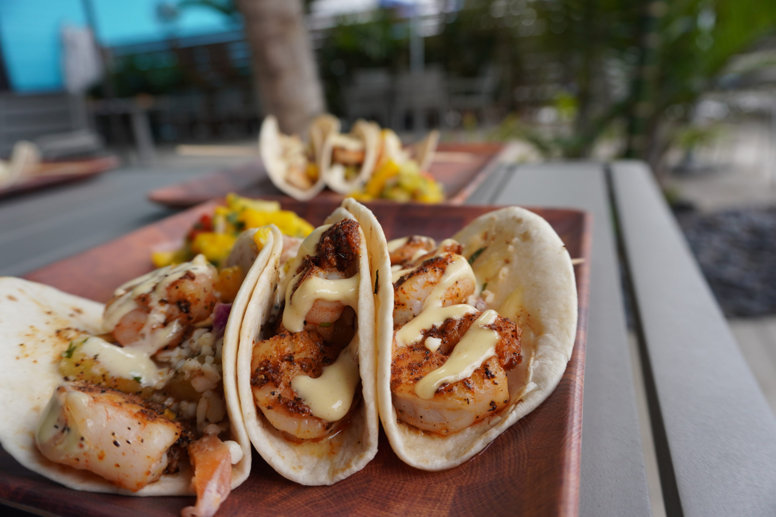 plate of three tacos
