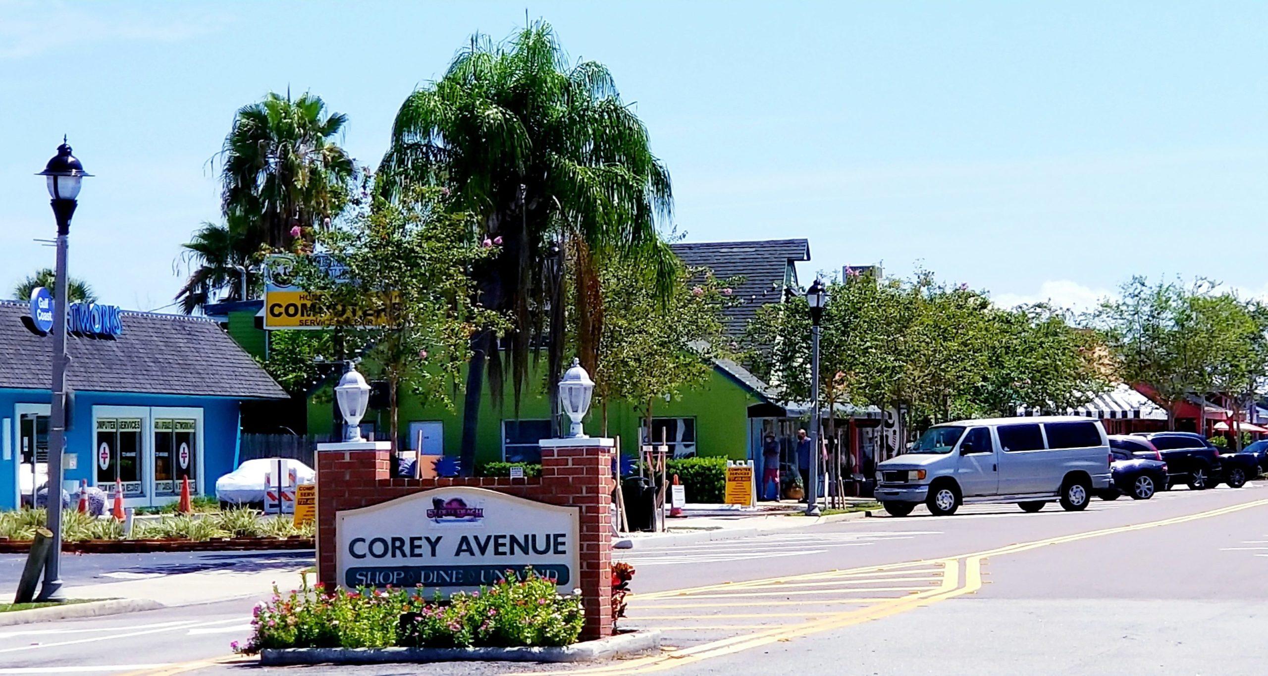 Corey Avenue Business District St. Pete Beach Florida
