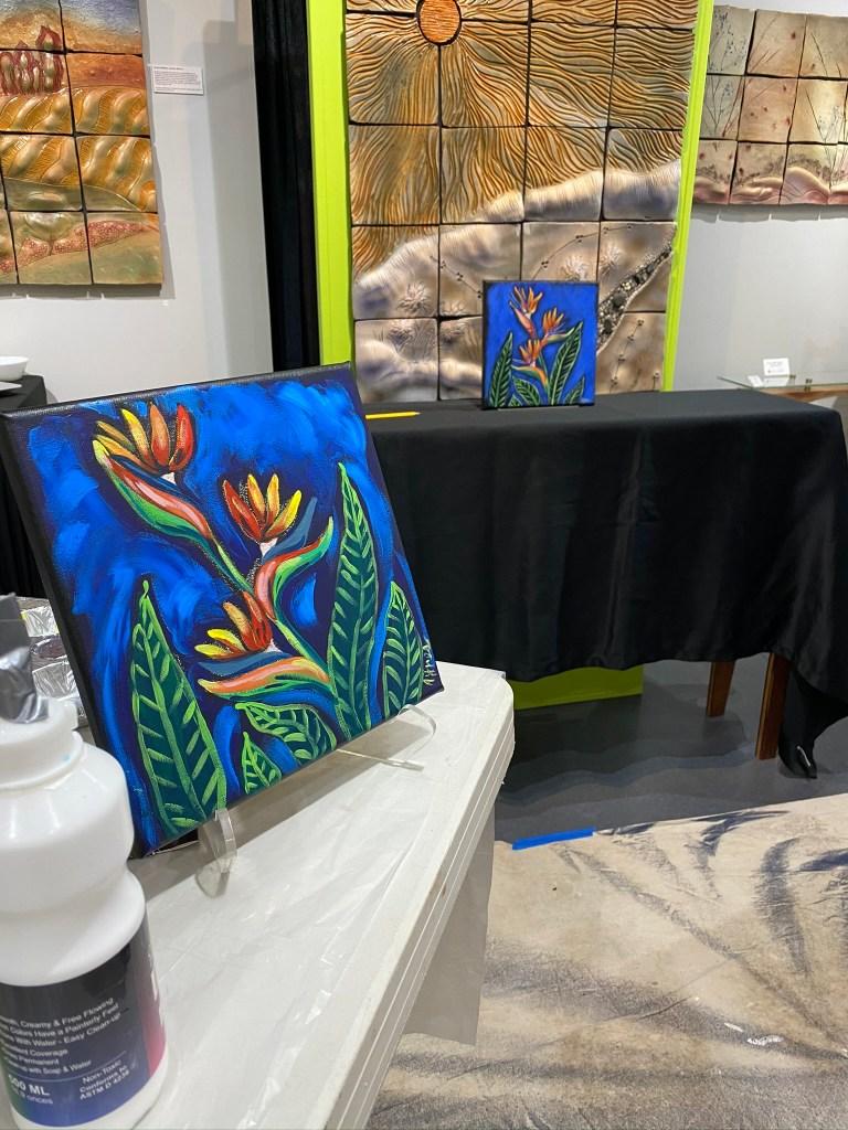 Painting in situ at gallery, via Brenda McMahon gallery