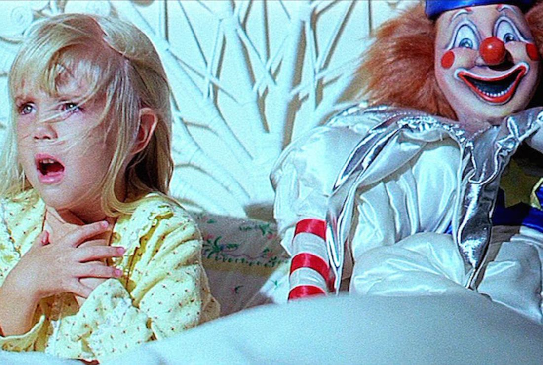 Poltergeist Carol Anne clown production still