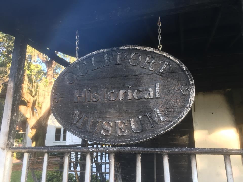 Gulfport History Museum plaque