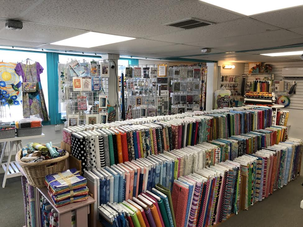 The inside of a fabric store