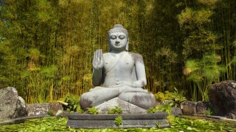 Buddah statue in the woods