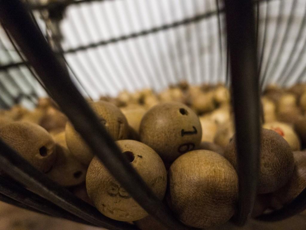 Brown bingo balls
