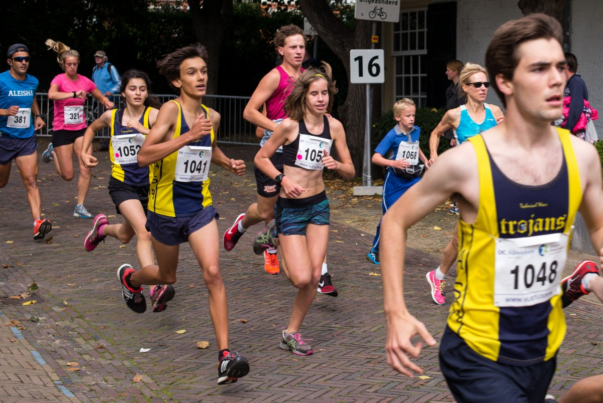 Group of people running in a race.