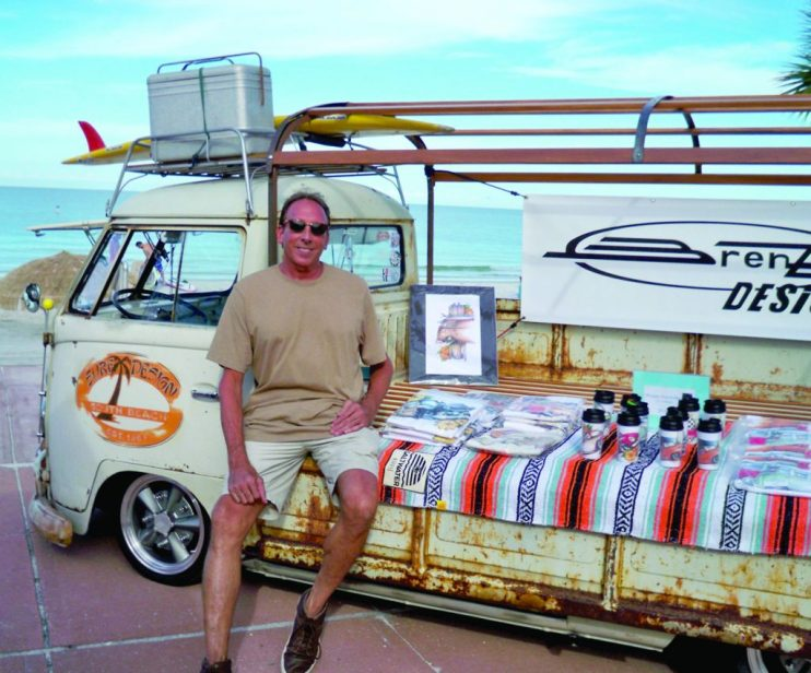 """Brent Gill has been a part of the VW Beach Bash for the past six years. """"I've been into cars for a long time and got hooked on VWs,"""" he said."""